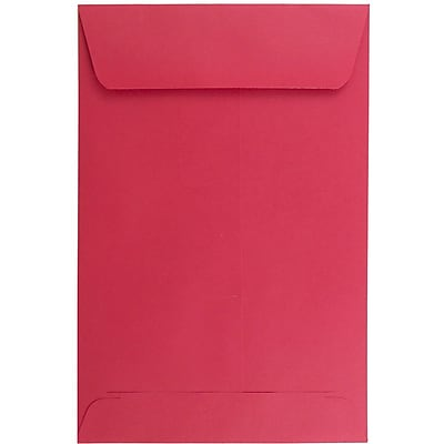 JAM Paper® 6 x 9 Open End Envelopes, Red Recycled, 25/pack (v0128139a)