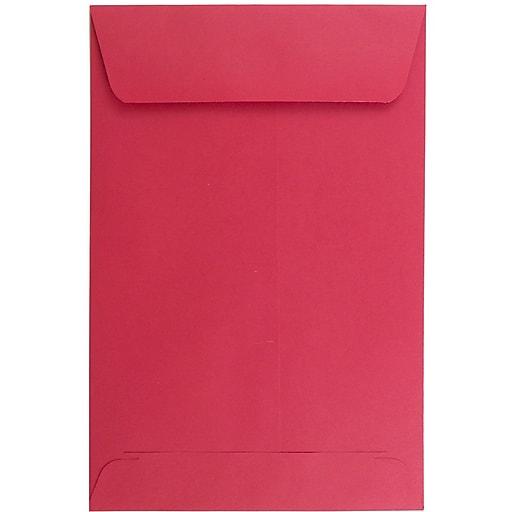 JAM Paper® 6 x 9 Open End Catalog Colored Envelopes, Red Recycled, 25/Pack (v0128139a)
