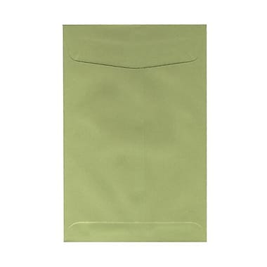 JAM Paper® 6 x 9 Open End Envelopes, Olive Green, 100/pack (31287526f)