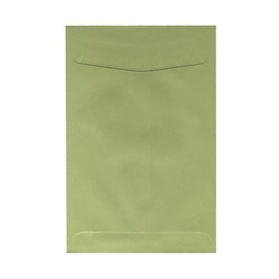 JAM Paper® 6 x 9 Open End Envelopes, Olive Green, 10/pack (31287526c)