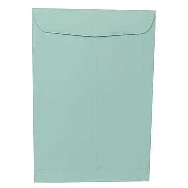 JAM Paper® 9 x 12 Open End Catalog Envelopes, Aqua Blue, 100/pack (31287530f)