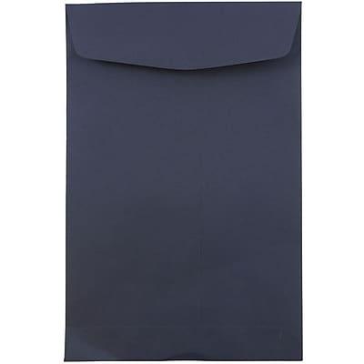 JAM Paper® 6 x 9 Open End Envelopes, Navy Blue, 100/pack (01287030f)