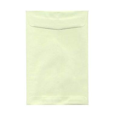 JAM Paper® 6 x 9 Open End Envelopes, Light Green, 100/pack (31287518f)