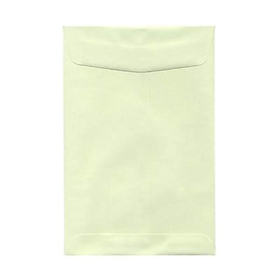 JAM Paper® 6 x 9 Open End Envelopes, Light Green, 100/pack (31287518f)
