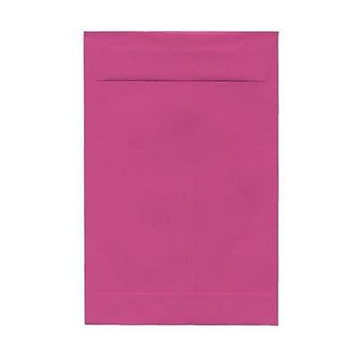 JAM Paper® 6 x 9 Open End Envelopes, Magenta Pink, 100/pack (1287029f)