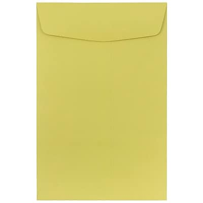 JAM Paper® 6 x 9 Open End Envelopes, Chartreuse Green, 10/pack (312815439c)