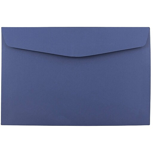 JAM Paper® 6 x 9 Booklet Envelopes, Presidential Blue, 25/Pack (263917209)