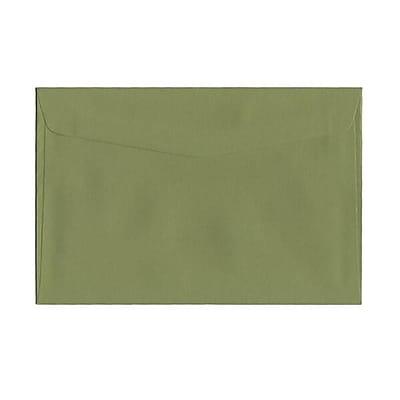 JAM Paper® 6 x 9 Booklet Envelopes, Olive Green, 25/pack (3157498)