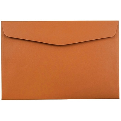 JAM Paper® 6 x 9 Booklet Envelopes, Dark Orange, 1000/carton (3157496b)