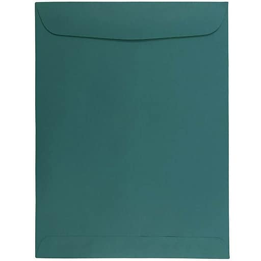 JAM Paper® 9 x 12 Open End Catalog Envelopes, Teal, 100/Pack (31287536f)