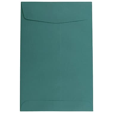 JAM Paper® 6 x 9 Open End Envelopes, Teal Blue, 100/pack (31287525f)