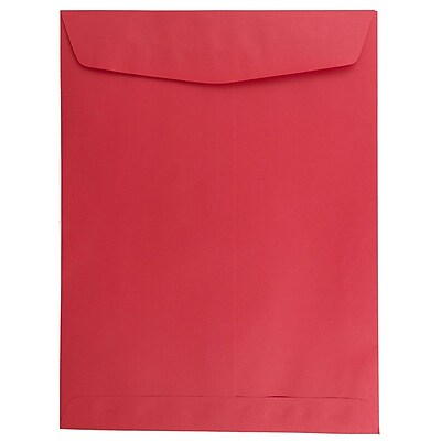 JAM Paper® 9 x 12 Open End Catalog Envelopes, Red Recycled, 25/pack (80329a)