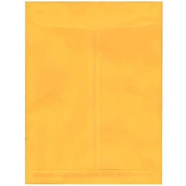 JAM Paper® 9 x 12 Open End Catalog Envelopes, Sunflower Yellow, 100/pack (212816063f)