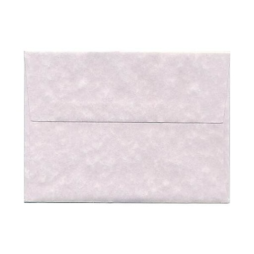 JAM Paper® A6 Parchment Invitation Envelopes, 4.75 x 6.5, Orchid Purple Recycled, 25/Pack (86348)