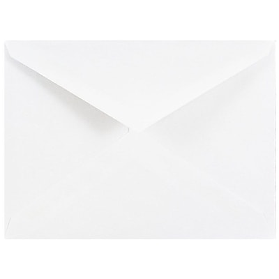 JAM Paper® A2 Invitation Envelopes, 4 3/8 x 5 3/4, White V-flap, 500/box (4023206c)