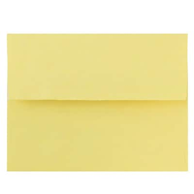 JAM Paper® A2 Invitation Envelopes, 4 3/8 x 5 3/4, Pastel Yellow, Peel & Seal, 1000/carton (23132035)