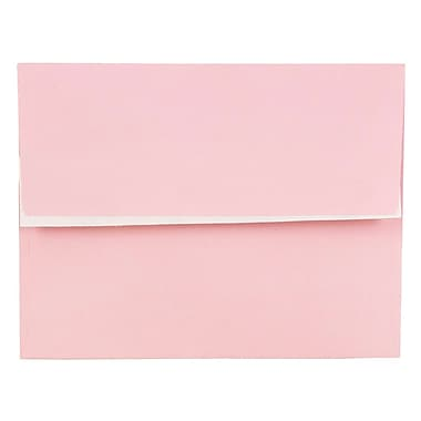 JAM Paper® A2 Invitation Envelopes, 4 3/8 x 5 3/4, Pastel Pink, Peel & Seal, 1000/carton (23132002)