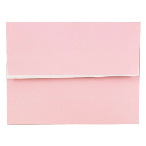 JAM Paper® A2 Colored Invitation Envelopes with Peel and Seal Closure, 4.375 x 5.75, Pastel Pink, Bulk 1000/Carton (23132002)