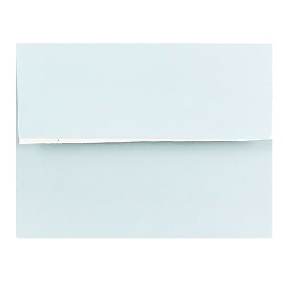 JAM Paper® A2 Invitation Envelopes, 4 3/8 x 5 3/4, Pastel Blue, Peel & Seal, 1000/carton (23132000)