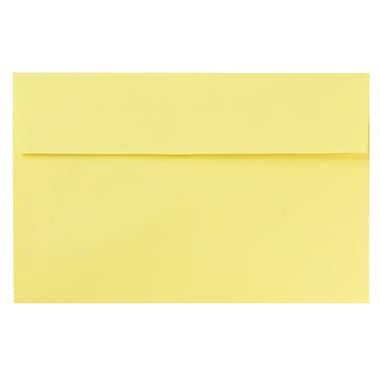 JAM Paper® A9 Invitation Envelopes, 5.75 x 8.75, Pastel Yellow, Peel & Seal, 720/carton (241132006)