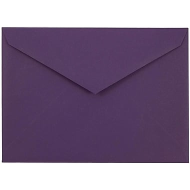 JAM Paper® 8bar V-Flap Envelope, 5 3/4 x 8, Vino Purple, 50/pack (526PKCE160)