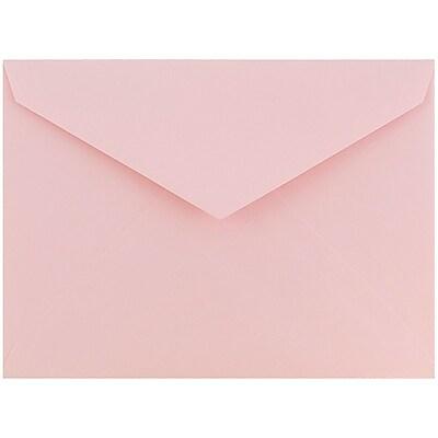 JAM Paper® 8bar V-Flap Envelope, 5 3/4 x 8, Pink Lemonade, 50/pack (526PKCE100)