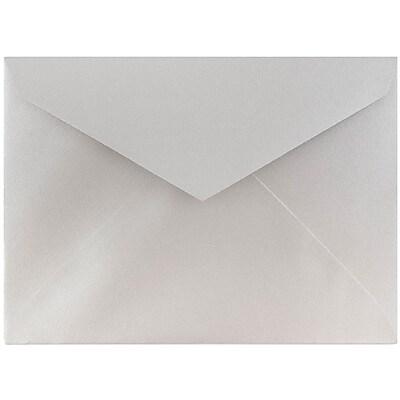 JAM Paper® 8bar V-Flap Envelope, 5 3/4 x 8, Silver Luster, 50/pack (526PKCE180)