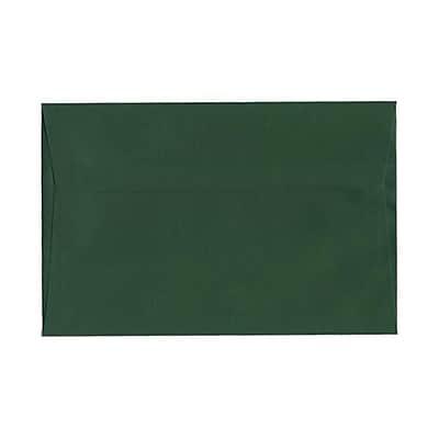 JAM Paper® A9 Invitation Envelopes, 5.75 x 8.75, Dark Green, 250/pack (157459h)