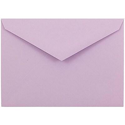 JAM Paper® 8bar V-Flap Envelope, 5 3/4 x 8, Lilac Purple, 50/pack (526CE150)