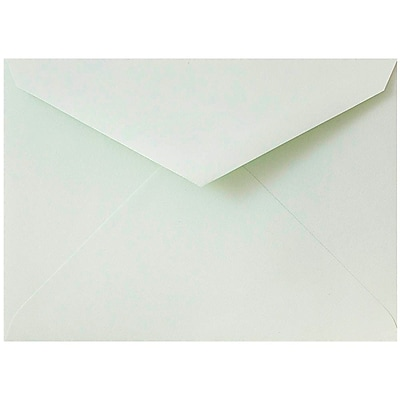JAM Paper® 8bar V-Flap Envelope, 5 3/4 x 8, Mint Green, 50/pack (526PKCE170)