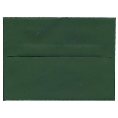 JAM Paper® 4bar A1 Envelopes, 3 5/8 x 5 1/8, Dark Green, 25/pack (63932585)