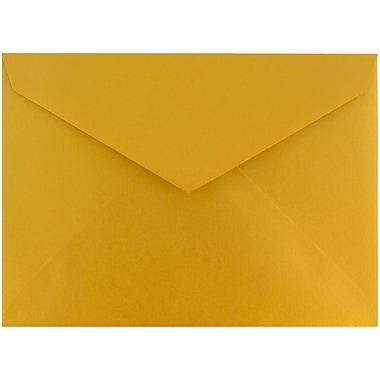 JAM Paper® 8bar V-Flap Envelope, 5 3/4 x 8, Gold Luster, 50/pack (526PKCE210)