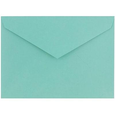 JAM Paper® 8bar V-Flap Envelope, 5 3/4 x 8, Island Teal Blue, 50/pack (526PKCE120)
