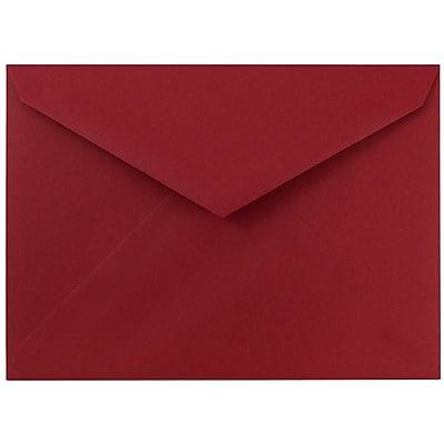 JAM Paper® 8bar V-Flap Envelope, 5 3/4 x 8, Chili Red, 50/pack (526PKCE230)
