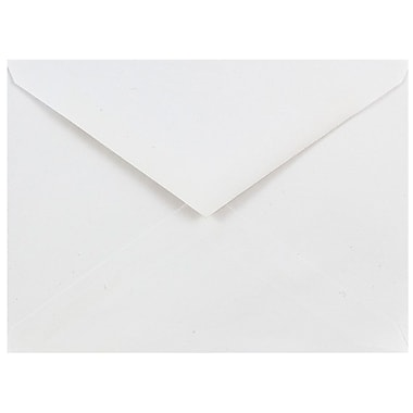 JAM Paper® A7 Invitation Envelopes, 5.25 x 7.25, White V-flap, Banded 18s, 2160 per carton (23531205)