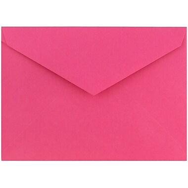 JAM Paper® 8bar V-Flap Envelope, 5 3/4 x 8, Berry Pink, 50/pack (526PKCE110)