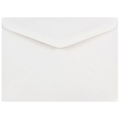 JAM Paper® A7 Invitation Envelopes, 5.25 x 7.25, White V-flap, 500/box (4023210c)