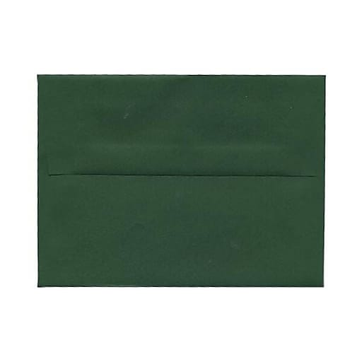 jam paper a7 invitation envelopes 5 25 x 7 25 dark green 25 pack