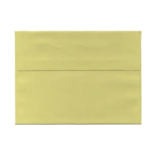 JAM Paper® A7 Invitation Envelopes, 5.25 x 7.25, Chartreuse Green, 25/Pack (21512980)