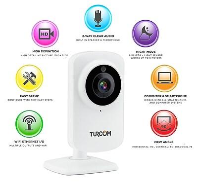 Turcom Home Security Camera Wireless IP HD System (TS-624)