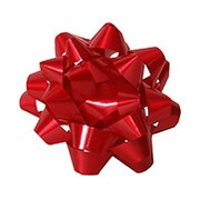 "JAM Paper® Gift Bows, 3.5"" Diameter, Red, 12/pack (38366456)"