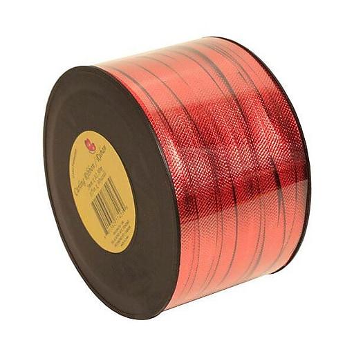 JAM Paper® Curling Ribbon, 90 Yards, Red Metallic, 12/Pack (510716099b)
