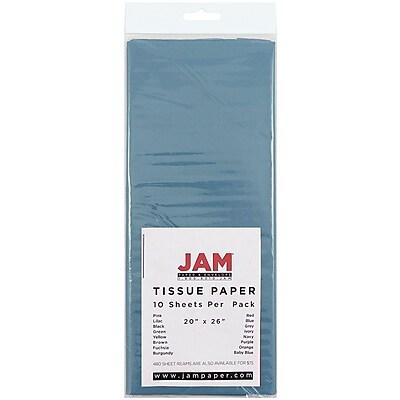 JAM Paper® Tissue Paper, Ocean Blue, 10/pack (211515605)