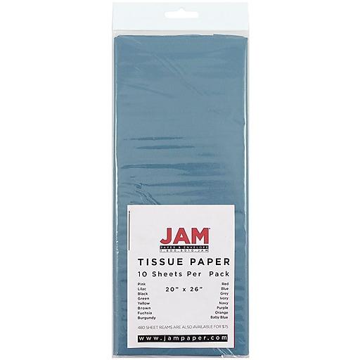 JAM Paper® Gift Tissue Paper, Ocean Blue, 10 Sheets/pack (211515605)