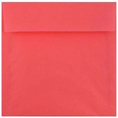 JAM Paper® 6 x 6 Square Envelopes, Watermelon Pink Translucent, 50/pack (241332374i)