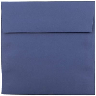 JAM Paper® 5.5 x 5.5 Square Envelopes, Presidential Blue, 1000/carton (263917212b)
