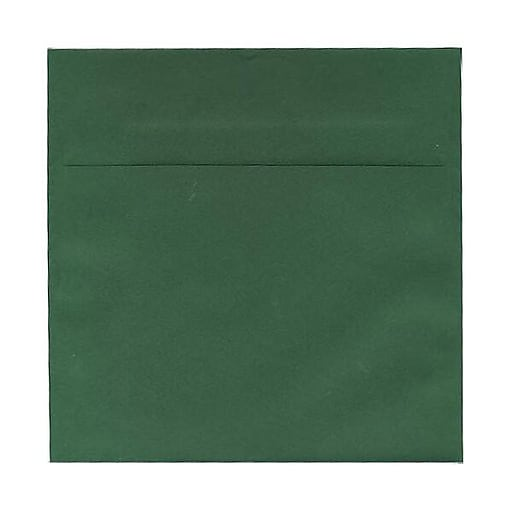 JAM Paper® 5.5 x 5.5 Square Invitation Envelopes, Dark Green, Bulk 1000/Carton (21512717b)