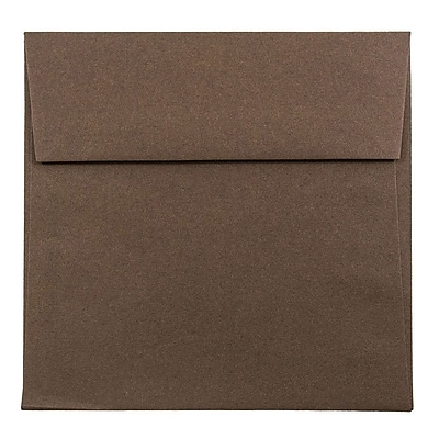 JAM Paper® 5.5 x 5.5 Square Envelopes, Chocolate Brown, 25/pack (22314939)