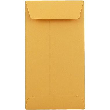 JAM Paper® #5.5 Coin Envelopes, 3.125 x 5.5, Brown Kraft, 50/pack (1623991i)