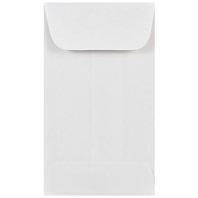 JAM Paper® #3 Coin Envelopes, 2.5 x 4.25, White, 50/pack (1623183i)
